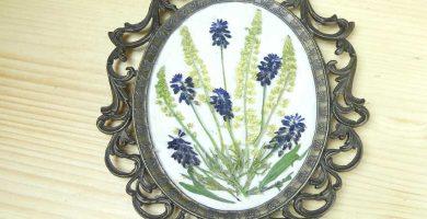 Cuadro de flores secas naturales