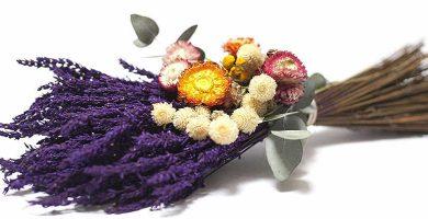 Ramo de flores silvestres secas naturales